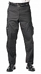 Rothco 9855 Black Teflon Coated E.M.T. Pants-Longs