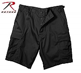 Rothco 65207 Black BDU Combat Shorts-2XL