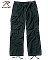 Rothco 2987 Black Vintage Paratrooper Fatigues-2XL