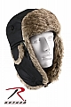 Rothco 9870 Black Fur Flyers Hat