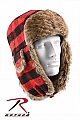 Rothco 9871 Red Plaid Fur Flyers Hat