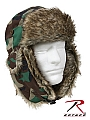 Rothco 9875 Woodland Camouflage Fur Flyer's Hats