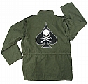 Rothco 8627 Olive Drab Vintage M-65 Field Jacket w/Death Spade