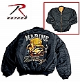 Rothco 7319 Marine Bulldogs MA-1 Flight Jacket-2XL