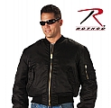 Rothco 73241 Black MA-1 Flight Jacket-Longs-L,XL