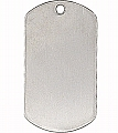 Rothco 8381 G.I. Type Silver Dog Tag-Shiny Finish