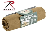 Rothco 94 Coyote Brown Multi Purpose Micro Fiber Hand Towels