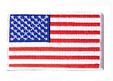 Rothco 2777 U.S. Flag Patch-White Border