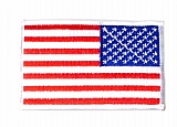 Rothco 12777 Reversed U.S. Flag Patch-White Border