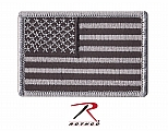 Rothco 1666 Black/Silver U.S. Flag Patch