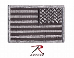 Rothco 16666 Black/Silver Reversed U.S. Flag Patch