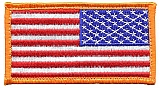 Rothco 17778 Reverse American Flag Patch w/Hook Back
