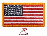 Rothco 17775 American Flag Patch w/Hook Back