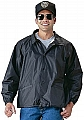Rothco 7640 Blank Black Fleece-Lined Coaches Jacket