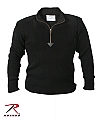 Rothco 3390 Black 1/4 Zip Commando Sweater
