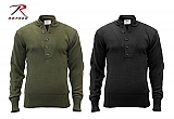 Rothco 6368 G.I. Style 5-Button Acrylic Sweaters- O.D., Black