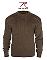 Rothco 5415 Gov't Type Brown Acrylic Commando Sweater