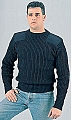 Rothco 6360 Gov't Type Navy Blue Wool Commando Sweater