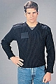 Rothco 6343 Gov't Type Navy Blue Wool V-Neck Sweater