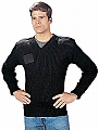 Rothco 6354 Gov't Type Black Wool V-Neck Sweater