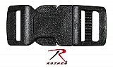 "Rothco 210 1/2"" Black Side Release Buckle"