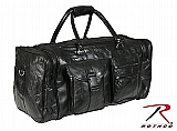"""Rothco 2980 23"""" Black Leather Patchwork Duffle Bag"""