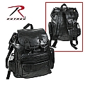 Rothco 2982 Black Leather Patchwork Backpack
