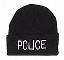 Rothco 5443 Black Police Embroidered Watch Cap