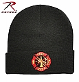 Rothco 5356 Black Fire Dept. Embroidered Watch Cap