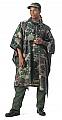 Rothco 4858 G.I. Type Woodland Camouflage Rip-Stop Poncho
