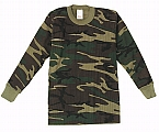 Rothco 6292 Kid's Woodland Camouflage Thermal Knit Tops