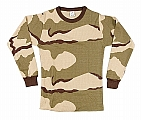 Rothco 5100 Tri-Color Desert Camo Thermal Knit Tops
