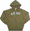 Rothco 2093 Vintage O.D. Army Zipper Hooded Sweatshirt