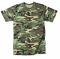 Rothco 7703 Kids Heavyweight Woodland Camouflage T-Shirt