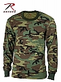 Rothco 6705 Kids Long Sleeve Woodland Camouflage T-Shirt