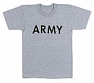 Rothco 66080 Kid's Army Grey Physical Training T-Shirt