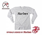 Rothco 60343 Marines Grey Long Sleeve Physical Training T-Shirt