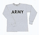 Rothco 60880 Army Grey Long Sleeve Physical Training T-Shirt