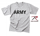 Rothco 9515 Army Grey Physical Training Moisture Wicking T-Shirt