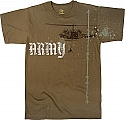 Rothco 66800 Vintage Brown Army Helicopter T-Shirt