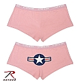 Rothco 3676 Womens Pink 'Army Air Corps' Logo Booty Short