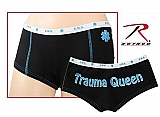 Rothco 3965 Womens Black Trauma Queen Booty Shorts