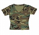 Rothco 8066 Womens Woodland Camo V-Neck Tees