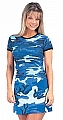 Rothco 8015 Womens Sky Blue Camo Ribbed Cotton Tee