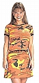 Rothco 8014 Womens Savage Orange Camouflage Ribbed Cotton Tee
