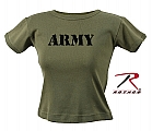 Rothco 8029 Womens Olive Drab Army Ribbed Cotton T-Shirt