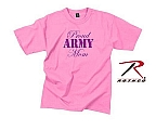 Rothco 5690 Womens Pink 'Proud Army Mom' T-Shirt