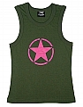 Rothco 8520 Womens Olive Drab Tank Top w/Pink Star