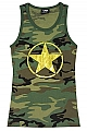 Rothco 8521 Womens Woodland Camo Tank Top w/Gold Foil Star