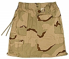 Rothco 1011 Womens Tri-Color Desert Camo Knee Length Skirt